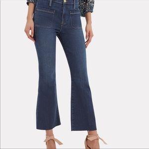 Frame Le Bardot Crop Flare High Waisted Jeans Sz29
